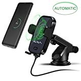 Wireless Car Mount Charger,Cell Phone Wireless Charger Car,Auto Induction Wireless Charger Car Holder Mount, Fast Wireless Charger iPhone X/8/7/6s/Plus, Galaxy S9/S9 Plus/S8/S7/S6 More