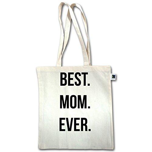 Festa Della Mamma - Mamma Migliore Di Sempre - Unisize - Natural - Xt600 - Manico Lungo In Juta Bag