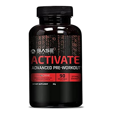 BASE ACTIVATE Advanced Thermogenic Pre-Workout Supplement - The Only Fat Burning Pre-Workout On The Market that Improves Power & Concentration - Up To 90 Servings!