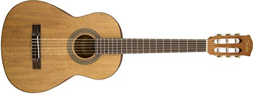 Guitar Fender String Nylon (Fender FA-15N Nylon String 3/4 scale Acoustic Guitar - Rosewood Fingerboard - With Gig Bag)