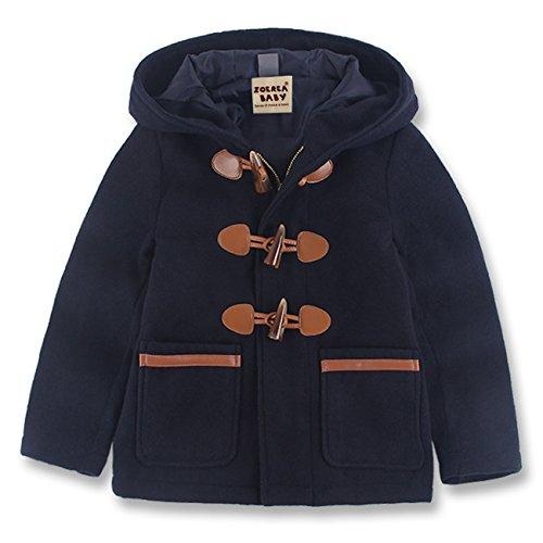 ggle Coat Hooded Jacket Kids Winter Overcoat Dark Blue ()
