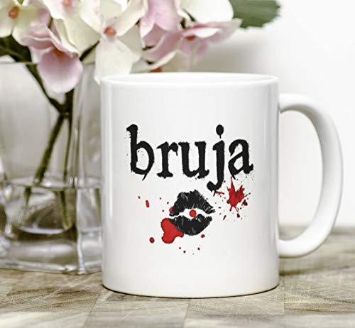 Bruja mug, halloween mug - witch mug - latina art - latina - dia de los muertos -