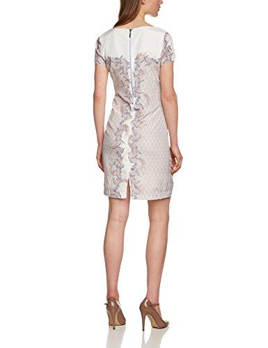 Kleid Damen Fashion over Knielang Creme multicolor print A APART 29303 Mehrfarbig All Linie dwUqnI