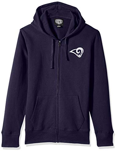 OTS NFL Los Angeles Rams Women's Fleece Full-Zip Hoodie, Logo, Large