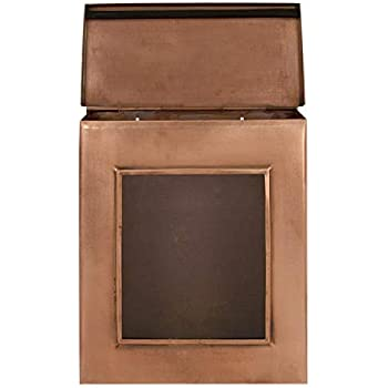 Vertical wall mount mailbox Contemporary Naiture Copper Vertical Wallmount Mailbox With Viewing Panel In Antique Copper Finish Budget Mailboxes Naiture Copper Vertical Wallmount Mailbox With Viewing Panel In
