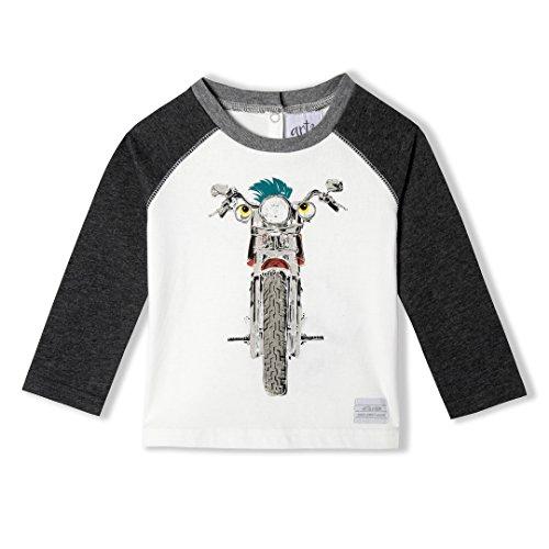 World Tee Cotton Organic (art & eden Baby Boy's 100% Organic Cotton Long Sleeve Raglan T-Shirt)