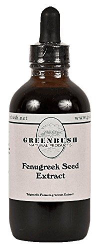 Fenugreek Concentrated Alcohol-Free Liquid Extract. Super Value Size 4oz Bottle (120ml) 240 Doses of 1/2 ml. for Breast Enhancement, Improved Libido, Mental Function, Blood Sugar, Cholesterol