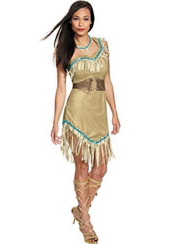 Pocahantas Halloween Costume - Disguise Women's Pocahontas Deluxe Adult Costume,