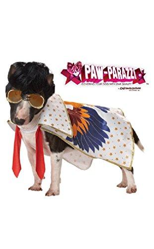 [Fancy Rock N Roll Elvis King Pet Dog Costume] (Elvis Costumes For Dogs)