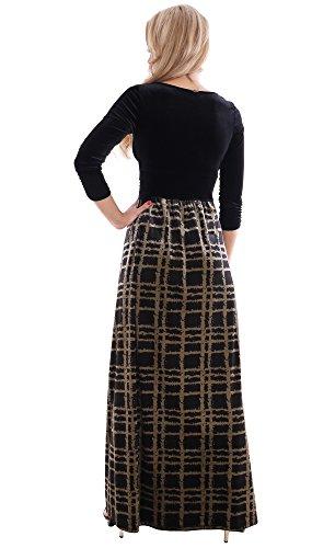 Fijo liches para vestido de noche para fiestas y conciertos vestido largo Theater vestido terciopelo de invierno con elástico de montyq UK Multi