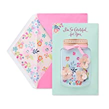 American Greetings Floral Grateful Mother's Day Card with Rhinestones