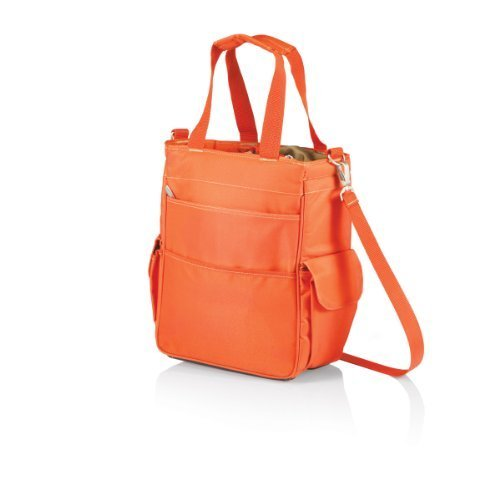 Picnic Time Activo Insulated Tote with Waterproof Lining, Orange