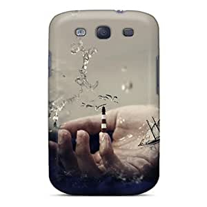 Galaxy S3 Case Cover - Slim Fit Tpu Protector Shock Absorbent Case (the Hand Of God)