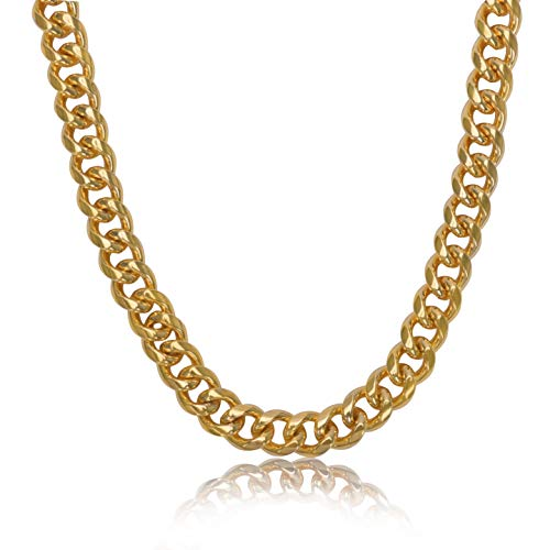 NYUK Gold Chain for Men Cuban Link Necklace