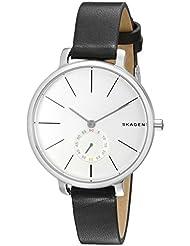 Skagen Womens SKW2435 Hagen Black Leather Watch