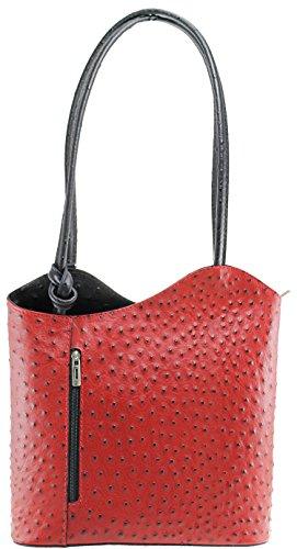 OH MY BAG - Bolso al hombro de Otra Piel para mujer rojo negro