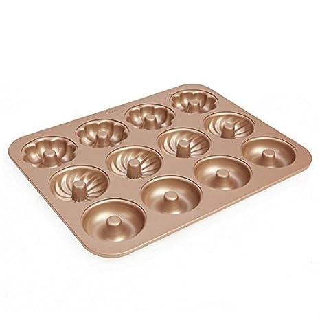 Ezeso molde antiadherente de acero al carbono Multi-Shape Donuts Cheesecake Cake Baking Pan Mix: Amazon.es: Hogar