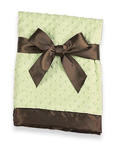 Bearington Baby Dottie Snuggle Blanket (Brown & Green), 28.5