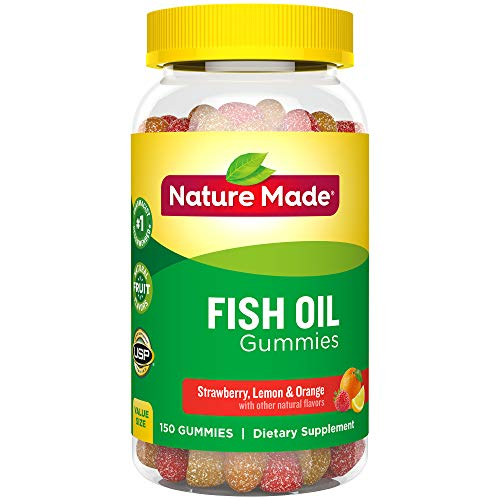 Nature Made Fish Oil Gummies, 150 Ct Value Size with 57 mg Omega-3s EPA & DHA (Packaging May Vary)