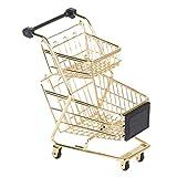 LHY NEWS Metal Shopping Cart, Double-Deck