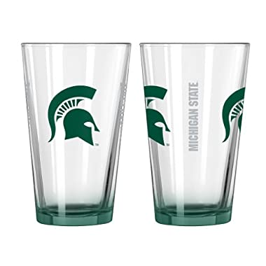 NCAA Michigan State Spartans Elite Pint Glass, 16-ounce, 2-Pack