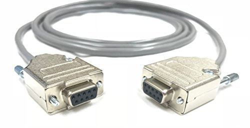 100 Foot DB9 Female to Female 22 AWG Serial Gray PVC Cable Made in USA by Custom Cable Connection by Custom Cable Connection