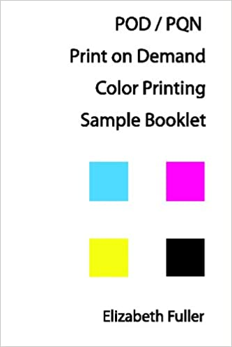 Buy Pod / PQN Print On Demand Color Printing Sample Booklet