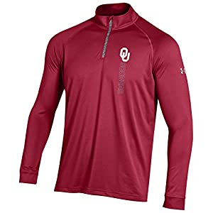 NCAA Oklahoma Sooners Boy's Tech Quarter Zip Tee, Crimson, X-Large