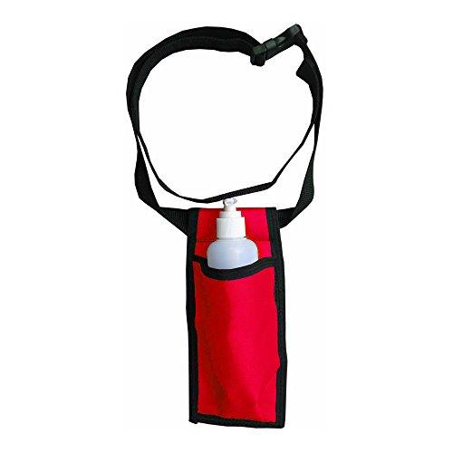 (Single Adjustable Massage Oil/Lotion Holster - Red)
