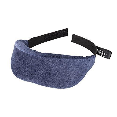 Plemo Sleep Mask, Ultra-Soft Velvet Eye Cover, Thick Light