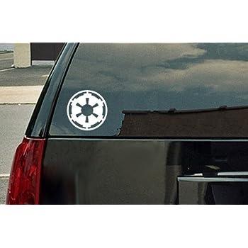 Amazoncom Star Wars Galactic Empire Vinyl Decal White Window - Car window decals near meperforated car window decals signscom