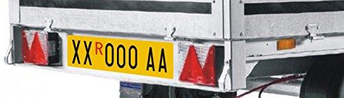Targa Tipo RIPETITRICE in Alluminio Completa di Lettere E Numeri Adesivi - per COMUNICARE Il Numero di Targa da Realizzare INVIATE Messaggio Tramite  O INVIATE EMAIL A: publi2000@Libero.it Publi 2000
