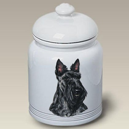 Terrier Cookie Jar - Best of Breed Scottish Terrier - Linda Picken Treat Jar