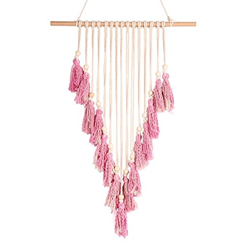 Adarl Manual Woven Dreamcatcher Wall Art Bohemia Tassel Tapestry Wall Hangings Tapestries Ornament Craft Gift for Home Decor #25 (Ornament Hanging Tassel)