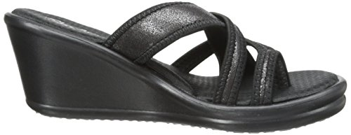 Plateau Heart Black Skechers Young Femme Rumblers Sandales at Sparkle XwX4tZq