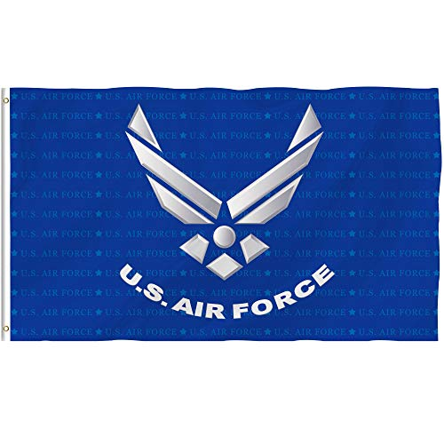 Bonsai Tree Us Air Force Flag 3x5 Ft Double Sided and Double Stitched Us Army Military Flags with Brass Grommets American Patriotic Garden House Outdoor Banners ()