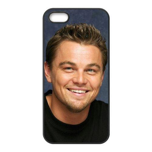 Leonardo Dicaprio 005 coque iPhone 5 5S cellulaire cas coque de téléphone cas téléphone cellulaire noir couvercle EOKXLLNCD25509