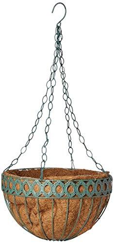 Metal Victorian Basket (Austram 112778 14-Inch Antique Green Round Queen Anne Hanging Planter)