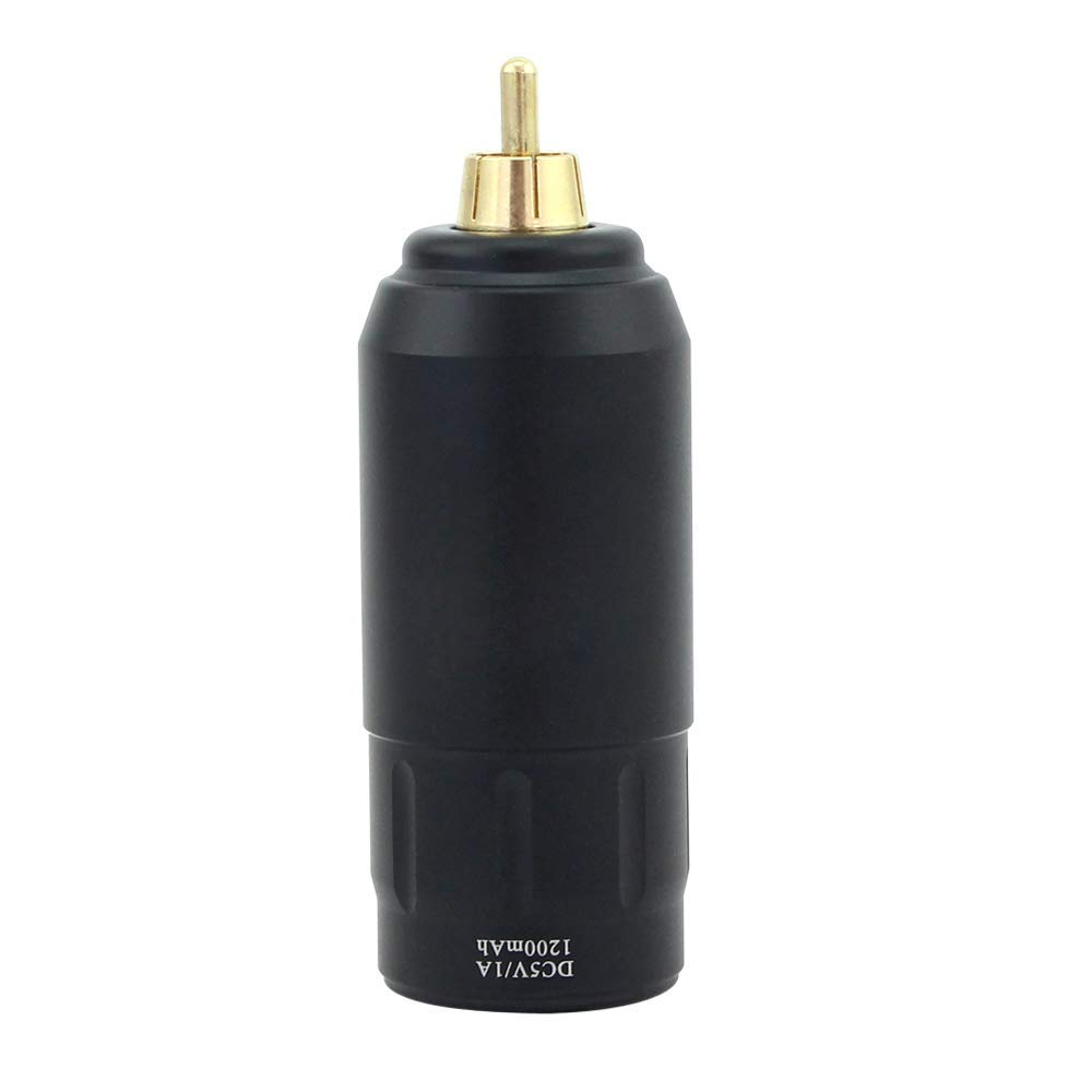 Denergy Thunder Tattoo Power Pack,Tattoo Mini Wireless Power,Tattoo Power Bank,1200mAh Long Time Working (Black)