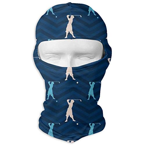 Blue Vintage Golfer Full Face Masks UV Protection Balaclava Tactical Masks - Skiing/Cycling/Motorcycle/Fishing/Hunting for Men Women (Vintage Full Face Motorcycle Helmets For Sale)