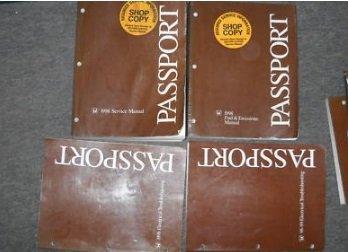 1998 Honda Passport SUV Service Repair Shop Manual SET 98 W EWD + EMISSIONS ()
