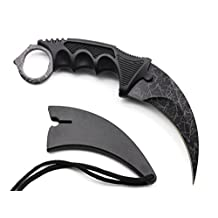 Hawkbill Hunting Knives Fixed Blade Stainless Steel Camping Knives, Suitable for Outdoors, Camping, Hunting, Field Survival