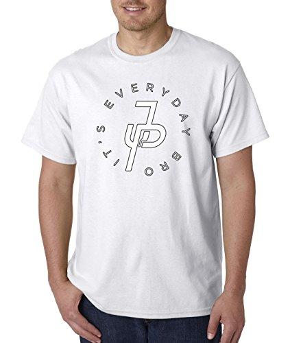 T-shirt White Bro (New Way 828 - Unisex T-Shirt It's Everyday Bro Jake Paul JP Logo Large White)