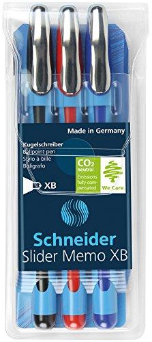 Schneider Slider Memo XB Kugelschreiber 3er Etui schwarz/rot/blau