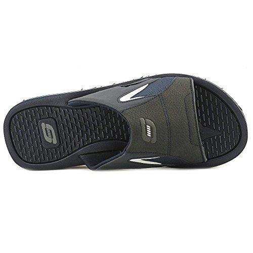 Skechers Magoo Men Open Toe Synthetic Blue Slides Sandal Navy ixVmwlZ51