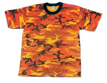 Rothco T-Shirt, Orange Camo, X-Large