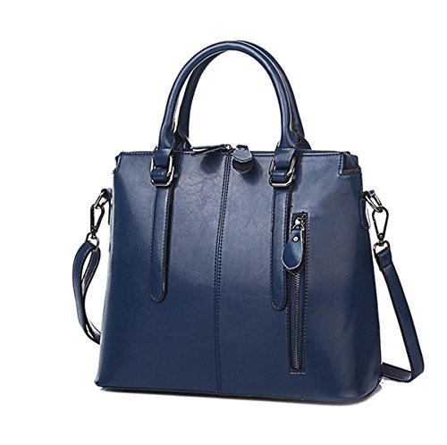Mujeres Nuevo Estilo PU moda Moda Alto Grado Temperamento Color Sólido Solo Bolso De Hombro Bolso Bolso De Hombro Inclinado Blue