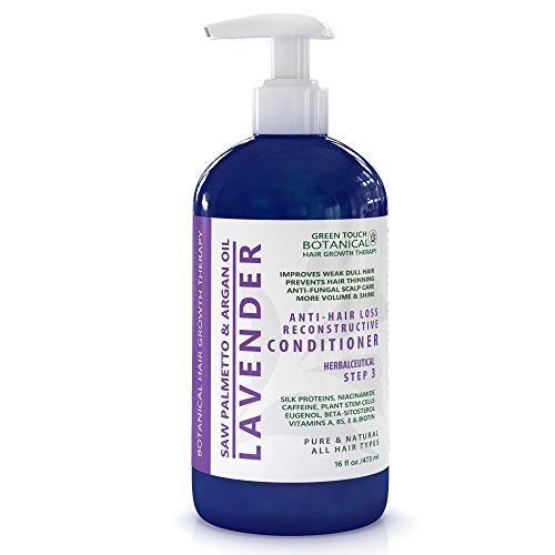 Organic Fruit Therapy Shampoo (STEP 3 Organic Anti Hair Loss Conditioner Lavender /Saw Palmetto & Argan Oil 16 Oz Green Touch Botanical Hair Growth Therapy)