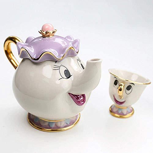 Beauty And The Beast Ceramic Teapot Set (Chip & Mrs Potts) -