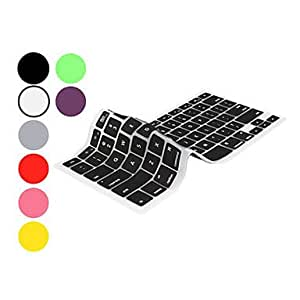 """DUR Keyboard Protector Skin for 13.3"""" and 15.4"""" Macbook Pro (Assorted colors) , Black , 13.3"""""""
